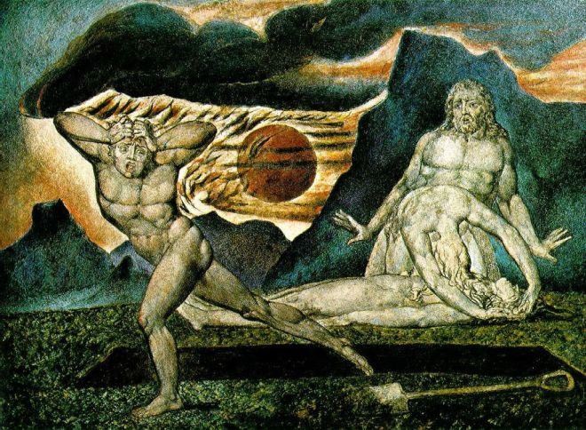 William Blake, Caín y Abel