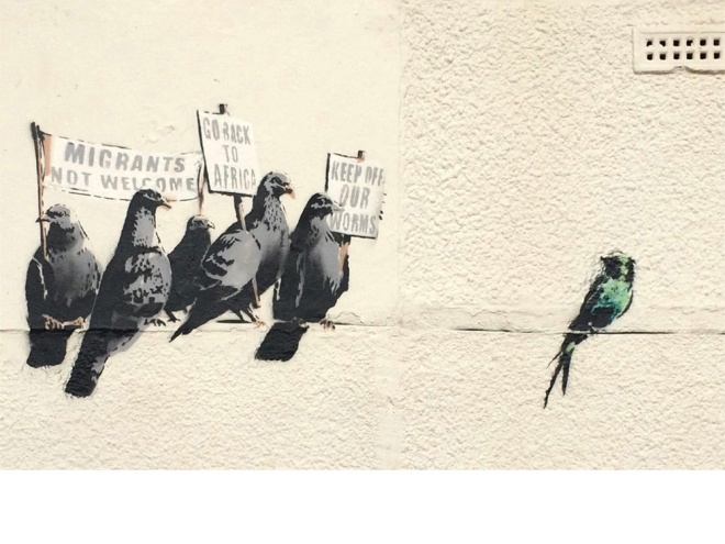 Banksy Aves racistas