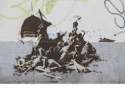 Banksy (La barca de la Medusa y los cruceros)