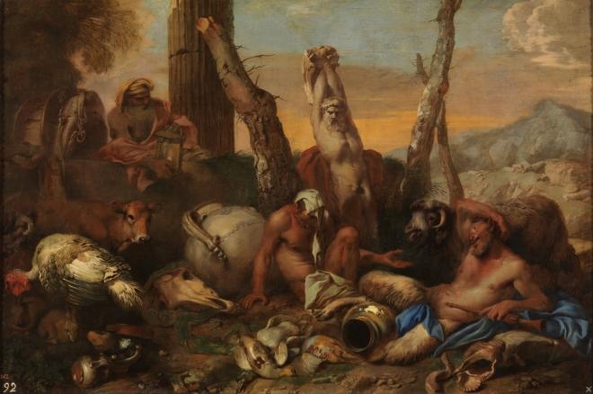Diogenes buscando a un hombre
