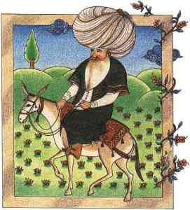 Nasreddin 17th century miniature