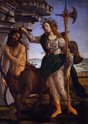Palas y el centauro. Boticelli
