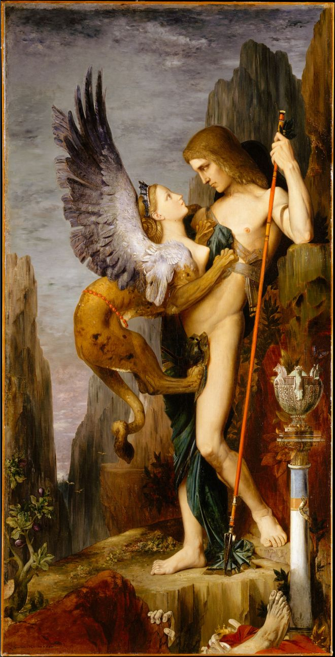 Edipo y la esfinge Gustave Moreau
