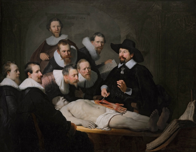 The anatomy lesson of Dr Nicolaes Tulp, by Rembrandt van Rijn