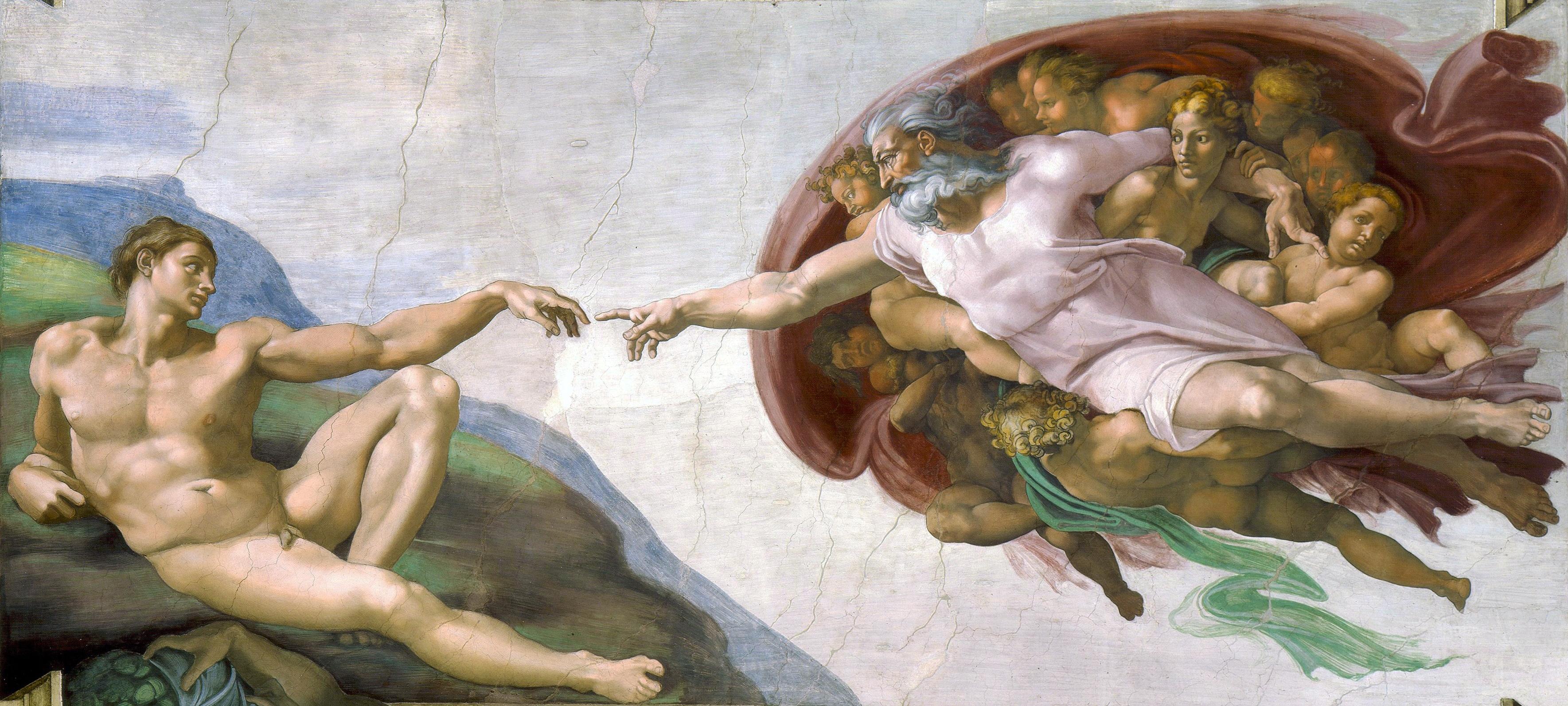La creacion de Adan Miguel Angel 1511