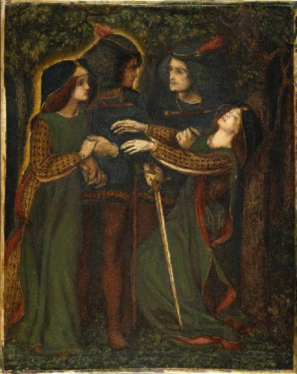 Dante Gabriel Rossetti_- How They Met Themselves (1860-64 circa)