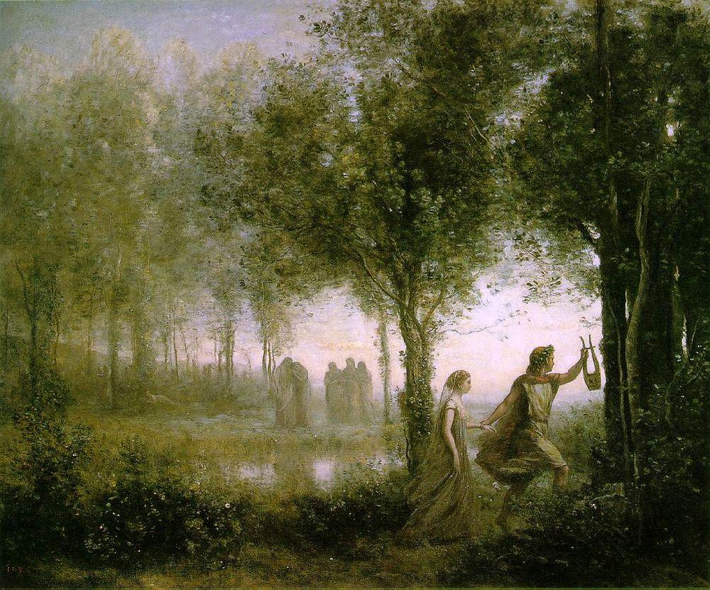 Orfeo y Euridice Corot
