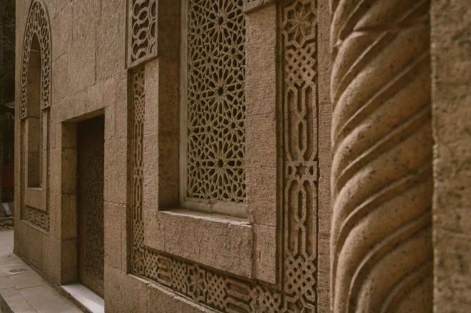 beige concrete walls