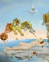 Salvador Dalí: Sueño causado por el vuelo de una abeja alrededor de una granada un segundo antes del despertar, 1944